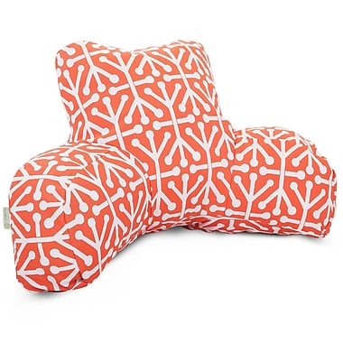 Majestic Home Goods Outdoor/Indoor Aruba Reading Pillow, Orange