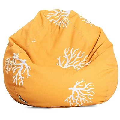 Majestic Home Goods Indoor/Outdoor Polyester Bean Bag Chair, Yellow (85907224007)