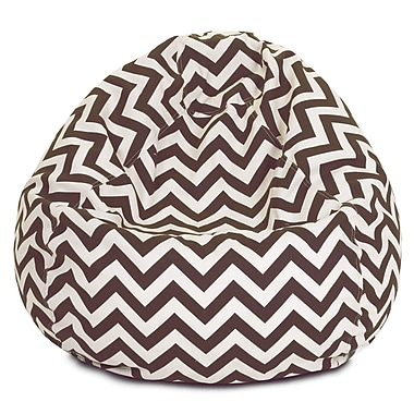 Majestic Home Goods Indoor/Outdoor Polyester Bean Bag Chair, Chocolate (85907224028)