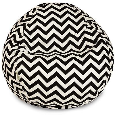 Majestic Home Goods Indoor/Outdoor Polyester Bean Bag Chair, Black (85907224030)