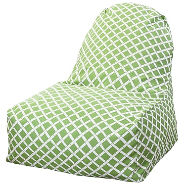Majestic Home Goods Indoor/Outdoor Bamboo Polyester Kick-It Bean Bag Chair, Sage
