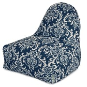 Majestic Home Goods Indoor/Outdoor Polyester Bean Bag Chair, Navy Blue (85907227012)