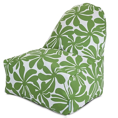 Majestic Home Goods Indoor/Outdoor Plantation Polyester Kick-It Bean Bag Chair, Sage