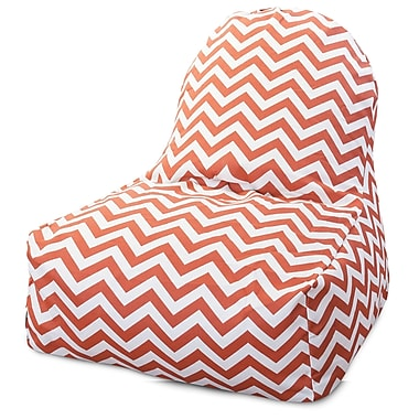 Majestic Home Goods Indoor/Outdoor Polyester Bean Bag Chair, Burnt Orange (85907227026)