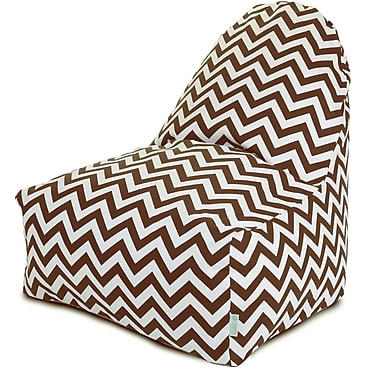Majestic Home Goods Indoor/Outdoor Polyester Bean Bag Chair, Chocolate (85907227028)