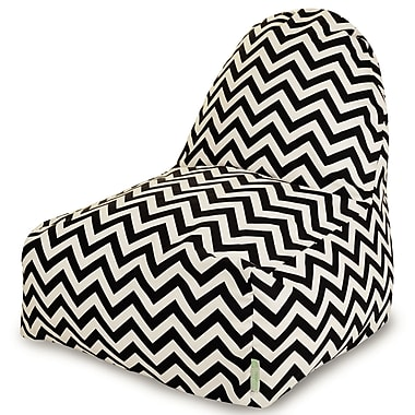 Majestic Home Goods Indoor/Outdoor Polyester Bean Bag Chair, Black (85907227030)