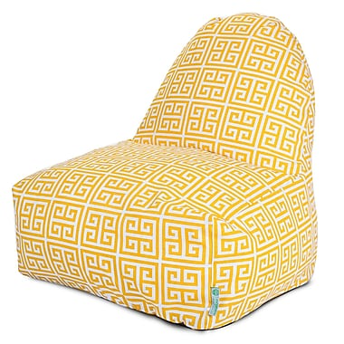 Majestic Home Goods Indoor/Outdoor Towers Polyester Kick-It Bean Bag Chair, Citrus