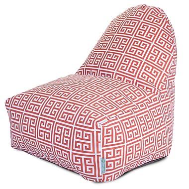 Majestic Home Goods Indoor/Outdoor Towers Polyester Kick-It Bean Bag Chair, Orange