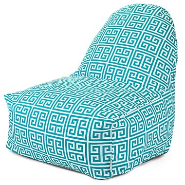 Majestic Home Goods Indoor/Outdoor Towers Polyester Kick-It Bean Bag Chair, Pacific