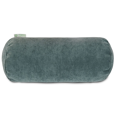 Majestic Home Goods Indoor Villa Round Bolster Pillow, Azure