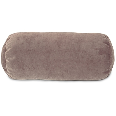 Majestic Home Goods Indoor Villa Round Bolster Pillow, Pearl
