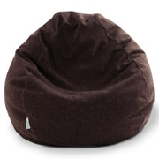 Majestic Home Goods Indoor Wales Polyester/Linen Small Classic Bean Bag Chair, Magnolia