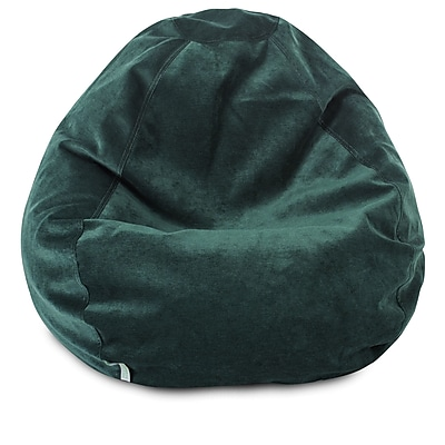Majestic Home Goods Indoor Polyester Micro-Velvet Bean Bag Chair, Marine (85907264023)