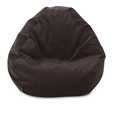 Majestic Home Goods Indoor Polyester Micro-Velvet Bean Bag Chair, Storm (85907264026)