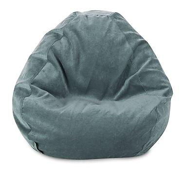 Majestic Home Goods Indoor Polyester Micro-Velvet Bean Bag Chair, Azure (85907264027)