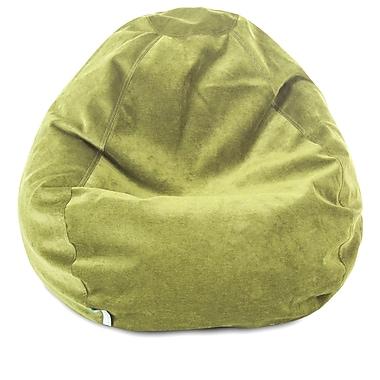 Majestic Home Goods Indoor Polyester Micro-Velvet Bean Bag Chair, Apple (85907264030)