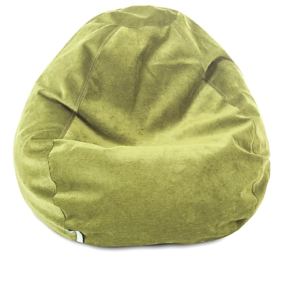 Majestic Home Goods Indoor Polyester Micro-Velvet Bean Bag Chair, Apple (85907264030)