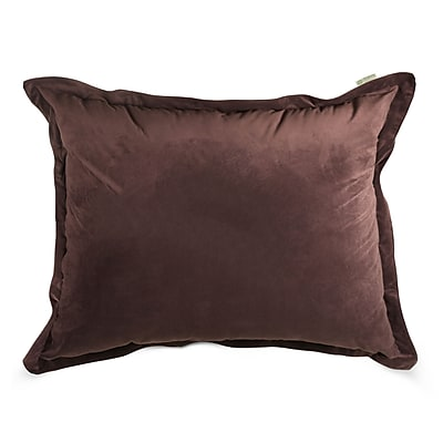 Majestic Home Goods Indoor Micro-Velvet Floor Pillow, Dark Brown