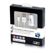 LBT Apple Approved Car Charger with a Detachable Lightning Cable
