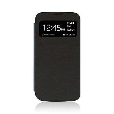 LBT – Étui à rabat pour Samsung S4 avec fenêtres, noir