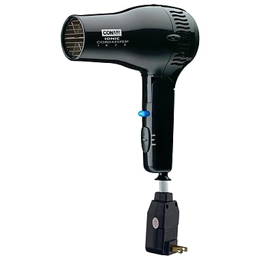 Conair® 1875 Watt Ionic Cord-Keeper Hair Dryers With Folding Handle