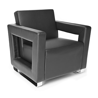 OFM Distinct Series Polyurethane Soft Seating Lounge Chair With Chrome Feet