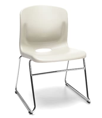 OFM Multi-Use Stack Chair, Plastic Seat and Back, Ivory, Pack of 4, (315-4PK-A20)