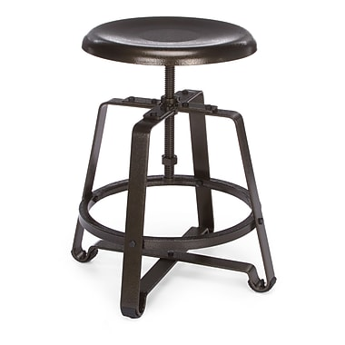 OFM Endure Series Metal Small Stool, Dark-Vein (845123034408)