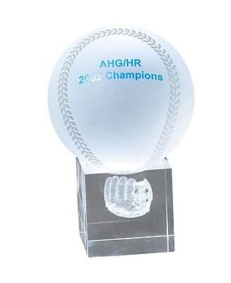 Chass Baseball and Mitt 3D Laser Sport Award