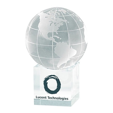 Chass ''Clear Cube'' Globe and Base Award