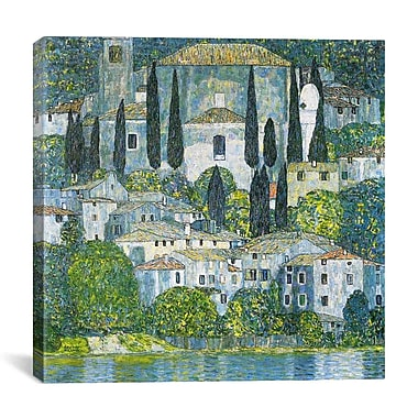 iCanvas 'Kirche in Cassone' by Gustav Klimt Painting Print on Canvas; 12'' H x 12'' W x 0.75'' D