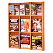 Wooden Mallet 9 Magazine / 18 Brochure Wall Display; Medium Oak