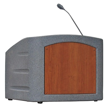 Summit Lecterns Dan James Original Integrator Tabletop Lectern; Gray