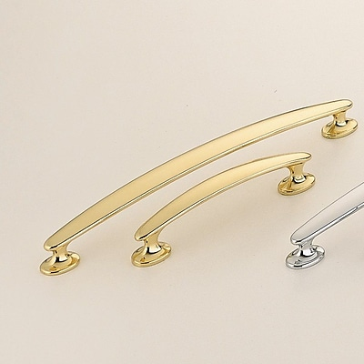 Omnia Classic & Modern 4'' Center Arch Pull; Polished Brass