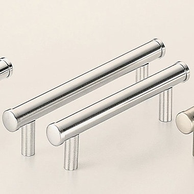 Omnia Classic & Modern 5'' Center Bar Pull; Satin Chrome Plated