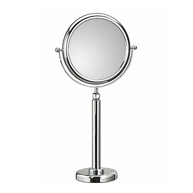 WS Bath Collections Mirror Pure Doppiolo Telescopic Magnifying Cosmetic Mirror; 6X