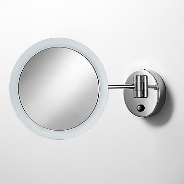 WS Bath Collections Mirror Pure Mevedo Twistable 3X Magnifying Makeup Mirror w/ Lighting