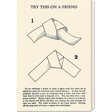 'Try This on a Friend - 5 Equal Sides' by Retromagic Vintage Advertisement on Wrapped Canvas