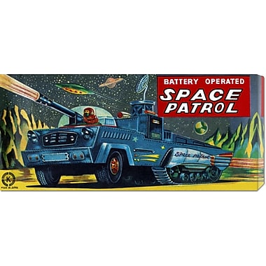 Global Gallery 'Space Patrol' by Retrobot Vintage Advertisement on Wrapped Canvas