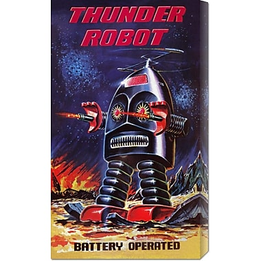 Global Gallery 'Thunder Robot' by Retrobot Vintage Advertisement on Wrapped Canvas