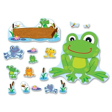 CARSON-DELLOSA PUBLISHING Funky Frog Bulletin Board Cut Out Set