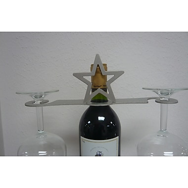 Metrotex Designs Laser Cut Star 2-Stem Bottle Topper; Nickel