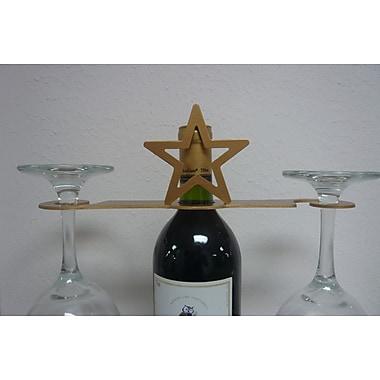 Metrotex Designs Laser Cut Star 2-Stem Bottle Topper; Gold
