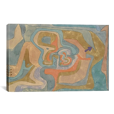 iCanvas 'Flying Away 1934' by Paul Klee Painting Print on Canvas; 26'' H x 40'' W x 0.75'' D