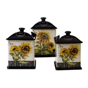 Certified International French Sunflowers 3-Piece Kitchen Canister Set