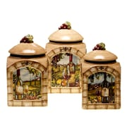 Certified International Tuscan View 3-Piece Canister Set