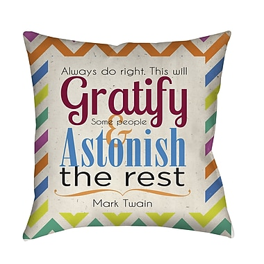 Manual Woodworkers & Weavers Always Do Right This Will Gratify Printed Throw Pillow