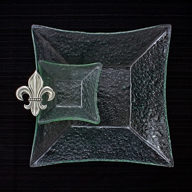 Thirstystone Fleur de Lis Square Chip and Dip