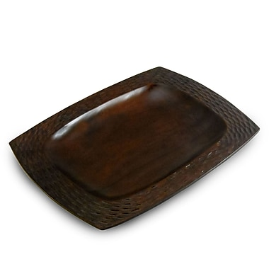 Enrico Casual Dining Platter; Chocolate