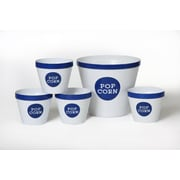 Wabash Valley Farms Trimmed 5 Piece Popcorn Bucket Set; Royal Blue / White